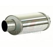 SILENCIEUX MONO-TUBE OVAL Lg D'ABSORPTION 250 MM