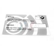 ETIQUETTE DE MAINTENANCE BOUGIE BMW ORIGINE