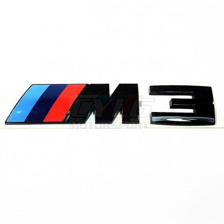 EMBLEME BMW M3 COFFRE VERSION BLACK