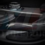 POIGNEE ET SOUFFLET ALCANTARA CARBONE M PERFORMANCE F20 F21 F22 F23