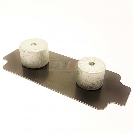 PLAQUETTE ANTI-BRUIT ETRIER PORSCHE PISTON 36/40mm 36mm/40mm 986 / 987 / 987C / 996 / 997 PORSCHE ORIGINE