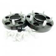 2x ELARGISSEUR DOUBLE BOULONNERIE 5x120 EP25mm SOIT 50mm PAR VOIE AVEC INSERTS