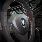 E8X E9X VOLANT BMW PERFORMANCE AVEC BANDE JAUNE BOITE AUTO