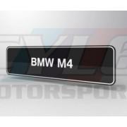 PLAQUES BMW M4 PROMOTIONNELLE M MOTORSPORT