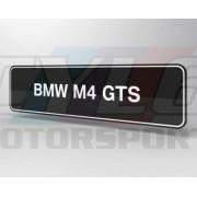 PLAQUES BMW M4 GTS PROMOTIONNELLE M MOTORSPORT