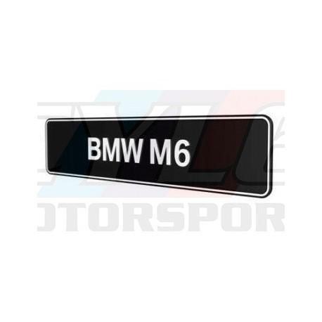 PLAQUES BMW M6 PROMOTIONNELLE M MOTORSPORT