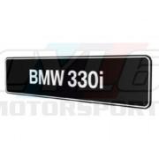 PLAQUES BMW 330i PROMOTIONNELLE M MOTORSPORT