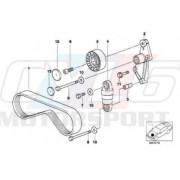 5PKX906 COURROIE COMPRESSEUR DE CLIM 11281437449 11281470024 BMW  E36 E34 E39 E38 Z3