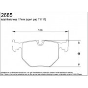 U2685-RS29 PAGID PLAQUETTES AR E39/E38/E53