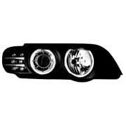 X5 E53 99-03 PHARE ANGEL EYES BLACK + CLIGNOS LED
